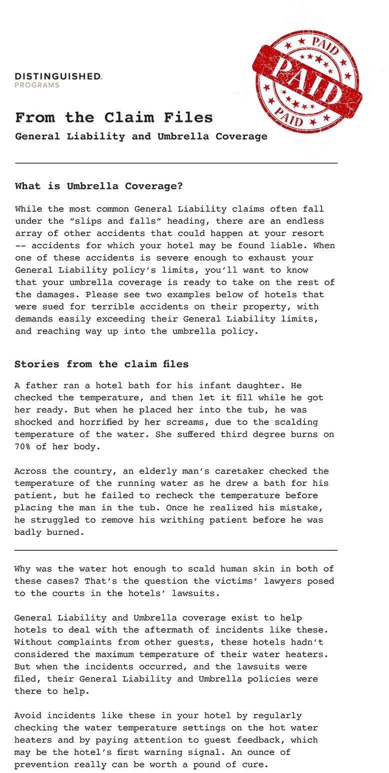 Case Files - General Liability