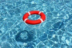 Life preserver in pool